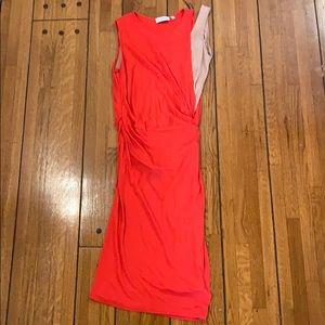 Vionnet | Red & Cream Color Block Dress